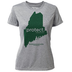 "protect. Maine ""Customize Graphic Color"" - Womens SS Hybrid T"