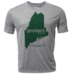 "protect. Maine ""Customize Graphic Color"" - Mens SS Hybrid T"