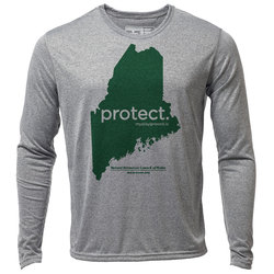 "protect. Maine ""Customize Graphic Color"" - Mens LS Hybrid T"